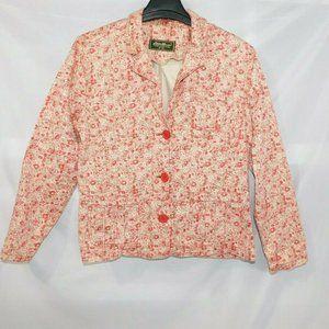 Eddie Bauer Women's 18W Red Cream Floral Blazer